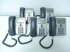 LOT OF 5 Cisco CP-7911G CP-7906 UNIFIED IP PHONE 7911 VoIP PHONE NICE CONDITION!