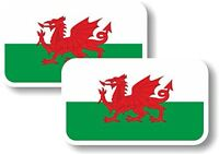 Vinyl sticker/decal Small 70mm Wales flag - pair