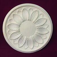 Ceiling Rose Plaster Victorian Sunflower Design 300mm Handmade