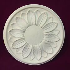 Ceiling Rose Plaster Victorian Sunflower Design 300mm Handmade