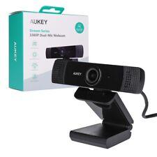 Aukey PC-LM1E Webcam 1080p Laptop Skype PC Mikrofon Stereo USB Kamera NEU&OVP