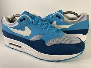 Nike Air Max 1 Light Blue Navy Grey White Men's Size 10.5 Rare AH8145-002