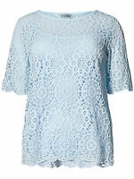 Ladies New ex M&S Pale Blue Lace top & Camisole Size 8-10-12-14-16-18-20-22