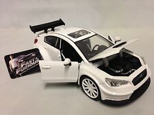 "FAST FURIOUS 8 MR LITTLE NOBODY'S SUBARU WRX STI, 8"" Diecast 1:24 Jada Toy White"