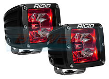 "PAIR OF RIGID INDUSTRIES RADIANCE 20202 12V 3"" LED PODS WITH RED BACK LIGHTING"