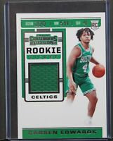2019-20 Panini Contenders Carsen Edwards Rookie Ticket Jersey Patch Card Celtics