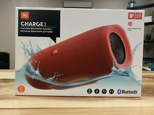 jbl charge 3 waterproof speaker red Barely Used