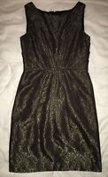 Max & Cleo womens cocktail dresses size 10 • black and gold print