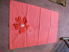 Handmade Beautiful Red Doily Towel Embroidered Appliqued 24 x 18 Inch NICE