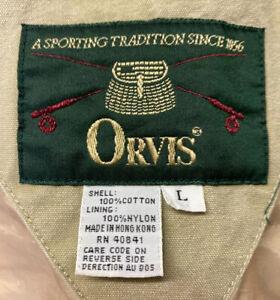 Vintage ORVIS Fishing Hunting Vest Safari Style Photography Cargo Sz L