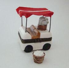 Porcelain Hinged Box  - Golf Cart Hinged Box with Bucket of Golf Balls