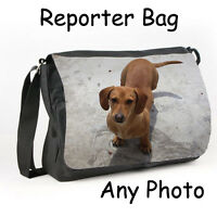 Personalised Reporter Bag Any Photo mans or womans Gift