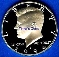 1994 S Gem Silver Proof Kennedy Half Dollar-Deep Cameo