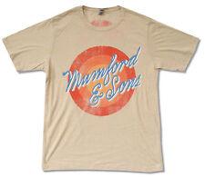 Mumford & Sons Sun Script Tour 2012 Tan T Shirt New Official