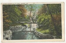 Cool Retreat in City Park, KOKOMO IN Vintage 1933 Indiana Postcard