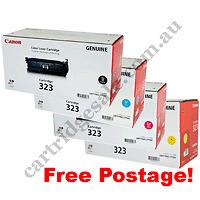 A Set Genuine Canon CART323BK CART323C CART323M CART323Y Cartridges LBP7750CDN