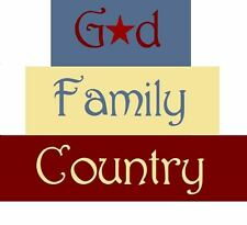 Stencil God Family Country Blocks Patriotic Star Free Shipping to US!
