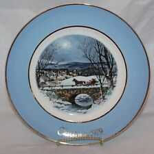 "1979 Avon Christmas Plate Series 7th Edition ""Dashing Through the Snow"" by Enoch"