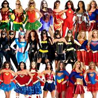 Superhero Ladies Fancy Dress Marvel DC Comic Book Day Womens Adults Costume New