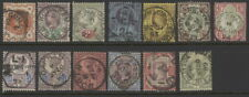 Great Britain 111 to 122 (plus 118a) used complete set w/postmarks, crown wmk