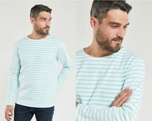 ARMOR LUX Heritage Breton Blue White Stripe 100% Cotton Pullover Shirt FRANCE