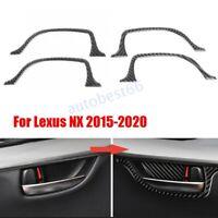 4X Carbon Fiber Door Handle Cover Trim Sticker For Lexus NX200T 300H 2014-2020