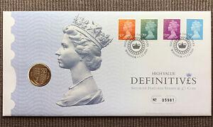 2009 High Value Definitives £1 pound shield FDC / PNC Royal Mint Mail