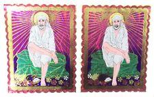 2 X tradicional Pegatina Adhesiva Lámina sentado Sai Baba – Pegatina religiosa hindú