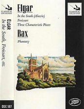 Elgar Bax  In The South Froissart Three Pieces Phantasy CASSETTE ALBUM Downes