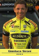 CYCLISME carte cycliste GIANLUCA SIRONI équipe VINI CALDIROLA