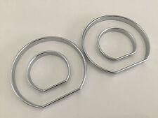 E46 Silver Speedo meter Gauge Dial Rings Bezel Trim AC Tech Sport for BMW M M3