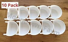 10 x PLASTIC D CUPS Cage Feeder Pots 7.5CM With Hooks Aviary Bird Finch Canary