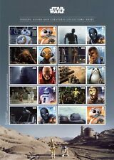 2017 STAR WARS DROIDS ALIENS AND CREATURES SMILERS COLLECTORS SHEET Mint