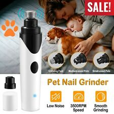 Electric Pet Dog Cat Toe Claw Nail Trimmer Clipper Tool USB Rechargeable 3500RPM