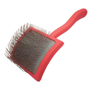 Chris Christensen Big G Dog Slicker Brush for Grooming, GroomGrip Coating, Large