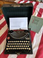 Vintage 1923 Remington Mod #2 Portable Typewriter, Hard Cover Case WORKS