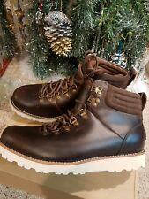 UGG Austalia Mens leather boots,Brown Waterfroof leather,sheepskin ,retail $240