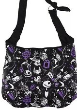 Nightmare Before Christmas Hobo Bag Crossbody Shoulder Purse Sketch Icons NWT
