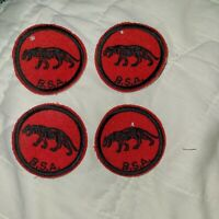 Boyscouts of America Retro Red and Black Panther Patrol Patch (Quantity of 4)