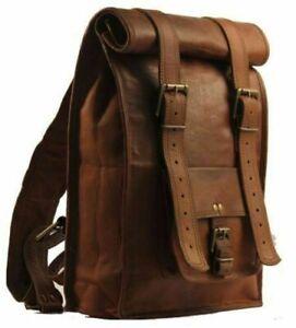 54cm Leder Rucksack umhängetasche vintage Backpack leather bag tasche beutel bag