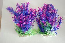 plantes pour aquarium x 2 environ 25CMS HAUT ROSE & Violet convient à tout type