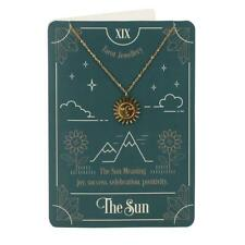 More details for the sun tarot card print & necklace blank greeting card gothic occult witch