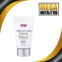 NOW Foods Solutions Hyaluronic Acid Creme PM Moisturising Renew Formula 59ml