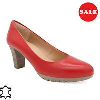 Cuero Mujer Zapatos de Tacón Auténtico Noche 6-cm Tacón, Rojo - Hecho En España