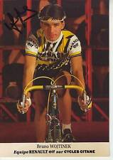 CYCLISME carte cycliste BRUNO WOJTINEK équipe RENAULT GITANE 1985 signée