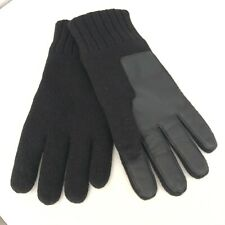 *UGG Australia Gloves Men's L/XL Touch Screen Leather/Knit Faux Fur Lined Black