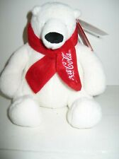 Coca Cola Polar Bear 9� Plush Red Scarf 2013 Collectible Coke New Tags