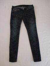 Womens Size 27 True Religion Cosmic Crush Skinny Leg Blue Jeans Measure 27x31.5