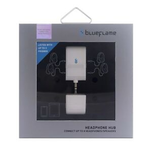 Headphone splitter BlueFlame headphone hub 4 way splitter (works with any device