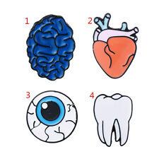4pcs Enamel Eye Heart Collar Badge Corsage Pins Cartoon Brooch Fashion Jewelery